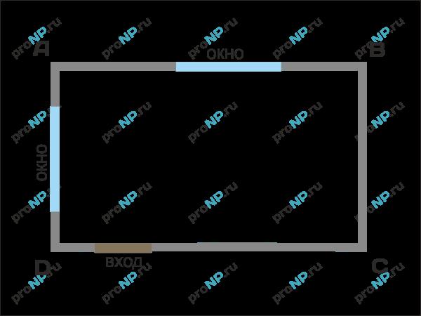 схема разбиения потолка на
